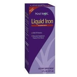 Natrol Liquid Iron Tropical Fruit - 8 fl oz