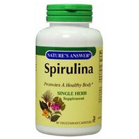 tures Answer Nature's Answer Spirulina Single Herb Supplement Vegetarian Capsules
