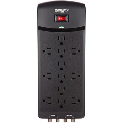 Monster Cable MP EXP 600 AVU 6-Outlets Surge Suppressor/Protector