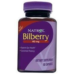 Natrol Bilberry Extract 40 mg Dietary Supplement Capsules