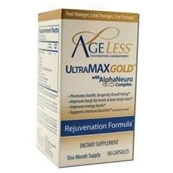 The Ageless Foundation Ageless Foundation UltraMAX Gold With AlphaNeuro Complex - 90 Capsules