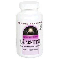 Source Naturals L-Carnitine - 500 mg - 120 Capsules