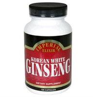 Imperial Elixir Korean White Ginseng - 500 mg - 100 Capsules