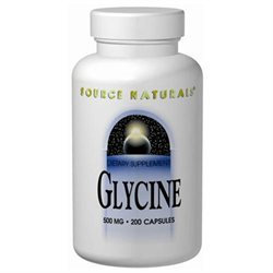 Source Naturals Glycine - 500 mg - 100 Capsules