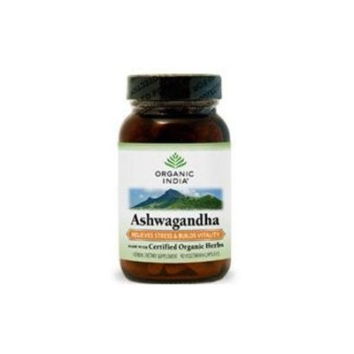 Organic India Usa Ashwagandha by Organic India - 90 Vegetarian Capsules