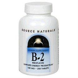 Source Naturals B-2 Riboflavin - 100 mg - 250 Tablets