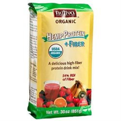 Nutiva Organic Hemp Protein Hi Fiber Powder, 30 oz
