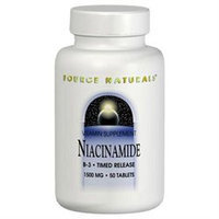 Source Naturals Niacinamide 1500 MG - 50 Tablets - Niacinimide