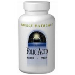 Source Naturals Folic Acid - 800 mcg - 200 Tablets
