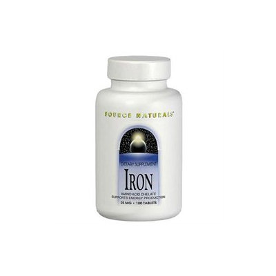Source Naturals - Iron Amino Acid Chelate 25 mg. - 100 Tablets