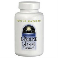 Source Naturals L-Proline L-Lysine - 275 mg - 60 Tablets