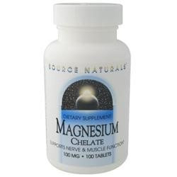 Source Naturals Magnesium Chelate - 100 mg - 100 Tablets