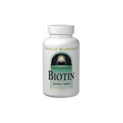Source Naturals Biotin 600mcg, 100 Tablets (pack Of 2)