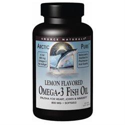 Source Naturals ArcticPure Omega-3 Fish Oil Lemon - 800 mg - 60 Softgels