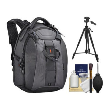 Vanguard Skyborne 45 Digital SLR Camera & Laptop Backpack Case (Black) with Tripod + Cleaning Kit