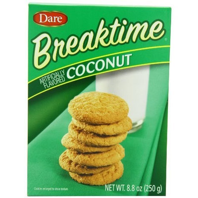 Dare Foods Breaktime Coconut Cookies, 8.8-Ounce (Pack of 12 )