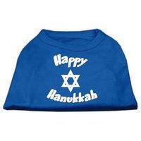 Mirage Pet Products 51-25-05 LGBL Happy Hanukkah Screen Print Shirt Blue Lg - 14