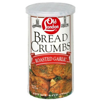 Old London London Bread Crumbs, Garlic, 8-Ounce Boxes (Pack of 12)