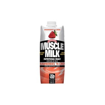 CytoSport CSPTRTDS0012STRWLQ RTD Muscle Milk Strawberry Creme 17 oz 12 ct