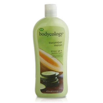 Bodycology Shower Gel and Bubble Bath, Cucumber Melon, 16 Fluid Ounce (Pack of 2)