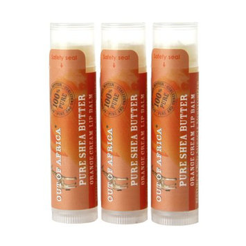Out Of Africa Lip Balm, Value Pack Orange Cream