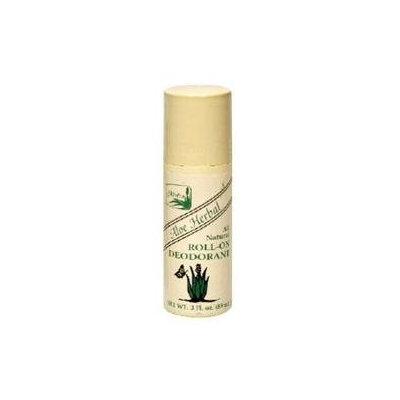 Alvera - All Natural Roll-On Deodorant Aloe Herbal - 3 oz.