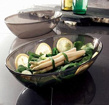 EMI Yoshi 112B Party Tray Black 1/2 gal Oval Salad Bowl 50 EA
