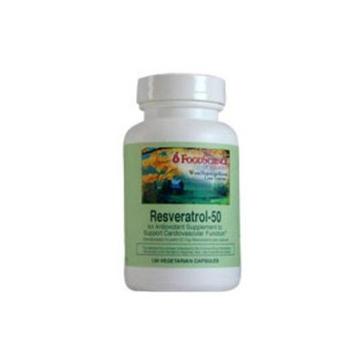 Frontier FoodScience of Vermont Resveratrol 50 - 120 Vegetarian Capsules