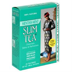 Slim Tea Mint Flvr 24 Bag by Hobe Laboratories (1 Each)