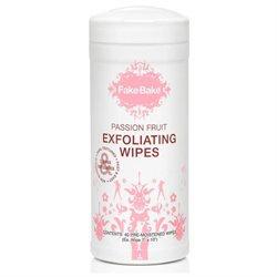Fake Bake 12990218709 Passion Fruit Exfoliating Wipes - 40wipes