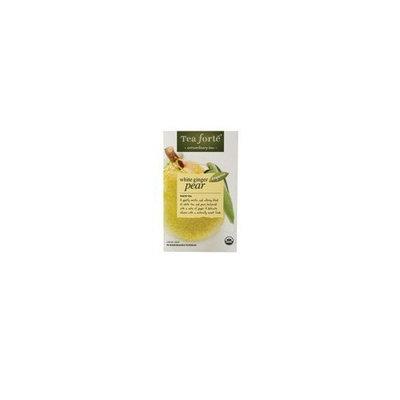 Tea Forte Tea, 95% organic, Wht Ginger Pear, Bag, 16 ct (pack of 6 ) ( Value Bulk Multi-pack)