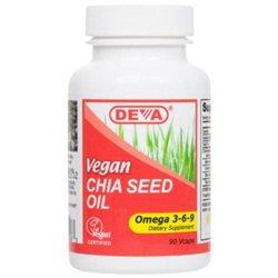 Deva Nutrition - Vegan Chia Seed Oil Omega 3-6-9 - 90 Vegetarian Capsules