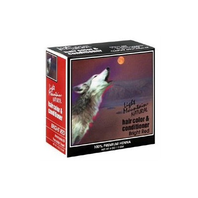 Light Mountain Natural Hair Color and Conditioner - Bright Red - 4 fl oz