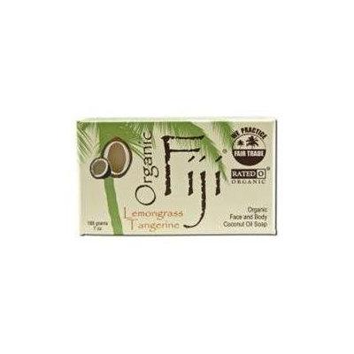 Organic Fiji - Face and Body Coconut Oil Bar Soap Lemongrass Tangerine - 7 oz.