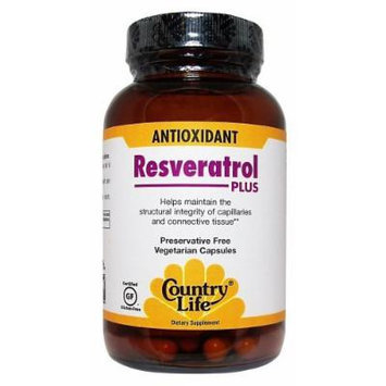 Country Life, Resveratrol Plus, Antioxidant 60 Veggie Caps
