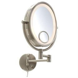 Jerdon Mirrors Jerdon Adjustable 8 1/2-in. Lighted Wall Mirror
