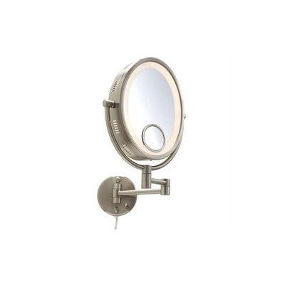 Jerdon Mirrors Jerdon Adjustable 8 1/2-in. Lighted Wall Mirror