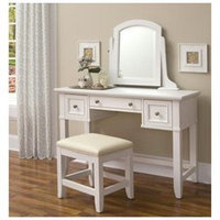 Home Styles Naples Vanity Table and Bench - White Finish