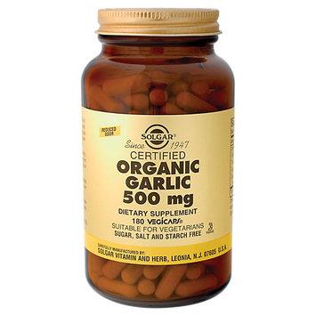 Solgar Garlic Organic 500 MG - 180 Veggie Caps - Garlic