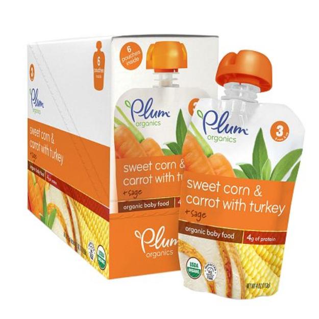 Plum Organics Baby Stage 3 Organics Baby Food Sweet Corn & Carrot with Turkey and Sage