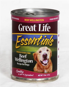 Great Life Essentials Beef Wellington Canned Dog Food 13.2 oz. (Case of 12)