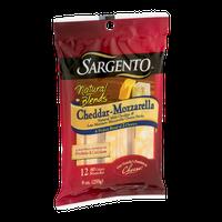 Sargento Natural Blends Cheddar-Mozzarella Cheese Sticks - 12 CT