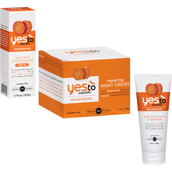 Yes To Carrots Nourishing Facial Care 3-Step Regimen Lip balms