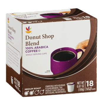 Ahold Coffee Single Serving Cups Medium Roast Donut Shop Blend - 18 CT