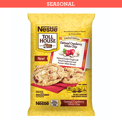 Nestlé® Toll House® Oatmeal Cranberry White Chip Cookie Dough