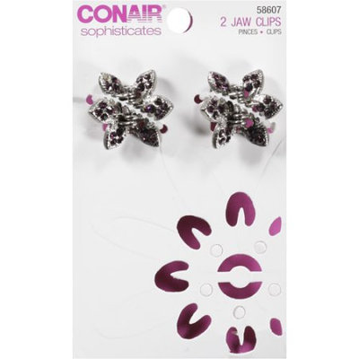 Conair Sophisticates Jaw Clips, 2 count