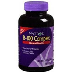B-100 Complex by Natrol - 100 Tablets