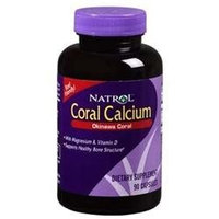 Natrol Coral Calcium 400 mg Dietary Supplement Capsules