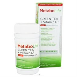 Metabolife Green Tea + Vitamin D3 Dietary Supplement Tablets