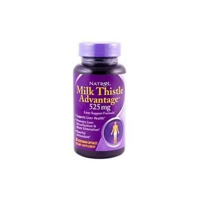 Frontier Natural Products Co-op 221856 Natrol General Health Milk Thislte Advantage 525 mg 60 vegetarian capsules